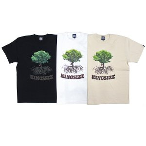 【KINGSIZE】ROOTS TEE / LAST WHITE L