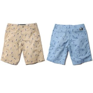 【Back Channel】GIRL PRINT CHINO SHORTS / LAST BEIGE L