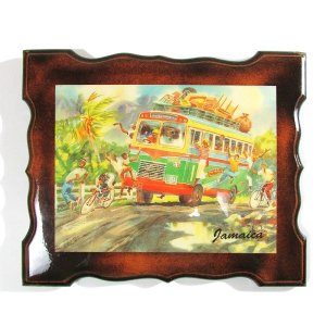 【Jamaica Goods】REGGAE BUS WOODEN WALL HANGING