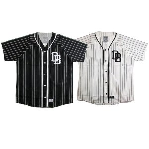 【DUPPIES】STRIPE BASEBALL SHIRTS / LAST WHITE