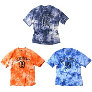 【Back Channel】COLLEGE LOGO TIE DYE T / LAST ORANGE L