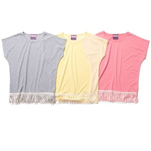 【IRIE by irielife】FRINGE TEE -IRIE for GIRL- / LAST GRAY