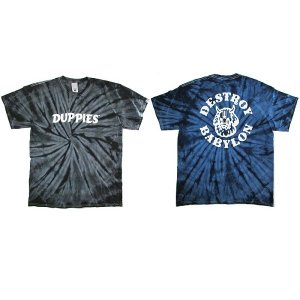 "【DUPPIES】TIE DYE SHORT SLEEVE TEE-SHIRTS ""SOUL COLLECTOR"" / LAST BLACK L"