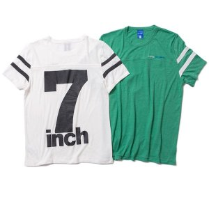 【IRIE LIFE】7INCH FOOTBALL TEE / LAST WHITE L