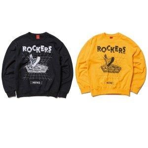"【NINE RULAZ】× ROCKERS NYC ""PENTAGON CREW NECK"" / LAST BLACK M"