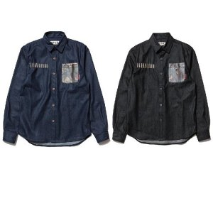【NINE RULAZ】9 BULLET DENIM SHIRT