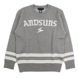 【ANDSUNS】ANDSUNS SWEATER / LAST GRAY L