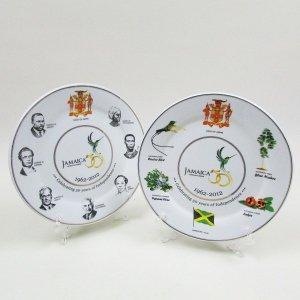 【JAMAICA GOODS】PLATE / JAMAICA NATIONAL SYMBOLS,NATIONAL HEROES