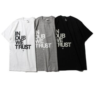 【VINYL JUNKIE】VJ IN DUB WE TRUST TEE / LAST WHITE L