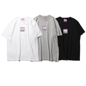 【IRIE by irielife】CHECKER FLAG LOGO TEE / LAST GRAY L