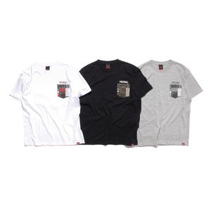 【MURAL】PAISLEY PATCHWORK POCKET T-SHIRT / LAST GRAY M