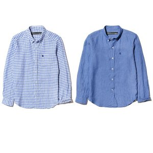 【Back Channel】LINEN B.D. SHIRT / LAST GINGHAM