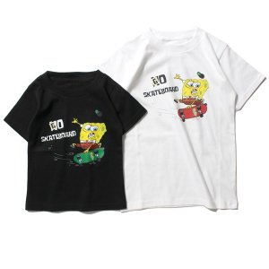 【IRIE by irielife】× SPONGE BOB SKATEBOAD KIDS TEE / LAST BLACK 120