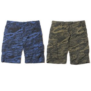 【Back Channel】GHOSTLION CAMO CARGO SHORTS / LAST NAVY