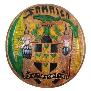 【JAMAICA GOODS】WOODEN WALL HANGING / COAT OF ARMS