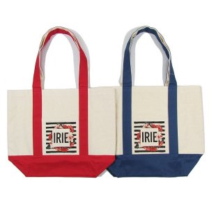 【IRIE by irielife】BORDER FLOWER TOTE BAG (M) / LAST NAVY