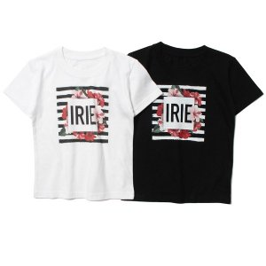 【IRIE by irielife】BORDER FLOWER KIDS TEE