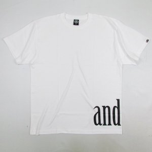 【ANDSUNS】BOTTOM TEE / LAST WHITE XL