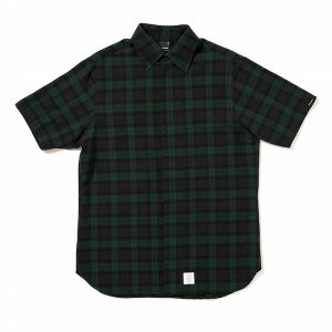 【APPLEBUM】BLACKWATCH FLY FRONT SS SHIRT / LAST L