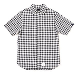 【APPLEBUM】CHECK FLY FRONT SS SHIRT / LAST M