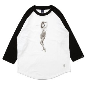 "【APPLEBUM】""NICE APPLEBUM"" RAGLAN 3/4 SLEEVE T-SHIRT / LAST M"