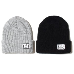 【IRIE FISHING CLUB】I.F.C CROSS ROD KNIT CAP / LAST BLACK