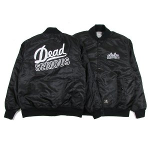 "【DUPPIES】NYLON STADIUM JACKET  ""RISING EAGLE"" / LAST BLACK L"