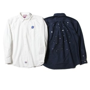 【IRIE by irielife】IRIE SPACE B.D. SHIRT / LAST NAVY L