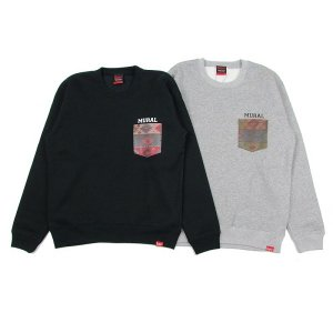 【MURAL】NATIVE POCKET CREW SWEAT