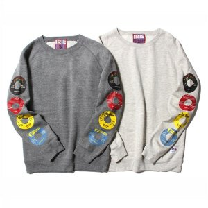 【IRIE by irielife】RECORD LABEL GIRL CREW / LAST GRAY L