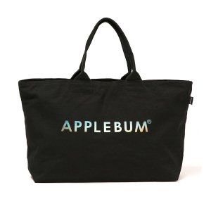 "【APPLEBUM】""SUNSHINE LOGO"" CANVAS ZIP TOTEBAG"