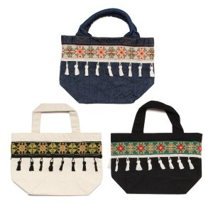 【Tome2H】EMBROIDERY TAPE LUNCH BAG