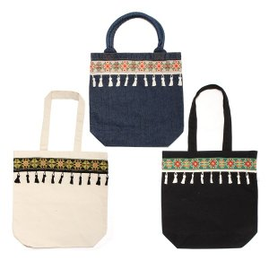 【Tome2H】EMBROIDERY TAPE TOTE BAG