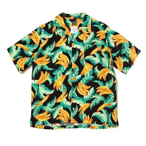 "【APPLEBUM】""BANANA"" ALOHA SHIRT / BLACK"