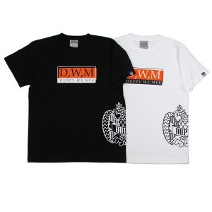"【DUPPIES】S/S TEE SHIRTS ""DWM"" / LAST BLACK M"