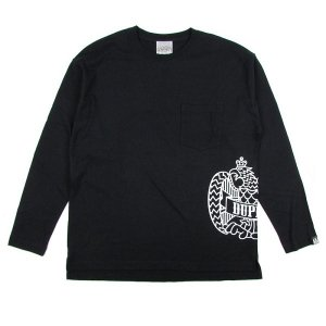 "【DUPPIES】LONG SLEEVE POCKET TEE SHIRTS ""2 FACE EAGLE"""