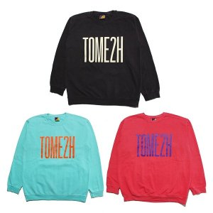 【Tome2H】GARMENT DYE SWEAT / LAST BLACK