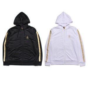 【Tome2H】GOLD CHENILLE HOOD JERSEY / BLACK