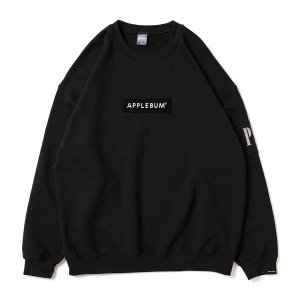 【APPLEBUM】PLAY for APPLEBUM EMBORIDARY BOX LOGO CREW SWEAT