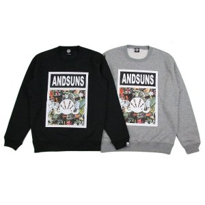 【ANDSUNS】BIG BEATS TAG CREWNECK