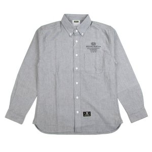 "【DUPPIES】OXFORD SHIRTS ""MESSENGER"" / LAST GRAY M"