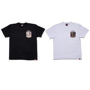 【MURAL】COMICS POCKET T-SHIRT / LAST BLACK L