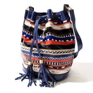 【Tome2H】MARINE STRIPE BUCKET BAG