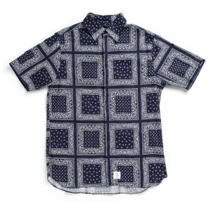 【APPLEBUM】PAISLEY FLY FRONT S/S SHIRT