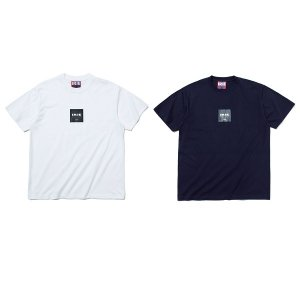 【IRIE by irielife】2TONE BOX LOGO TEE / LAST NAVY M