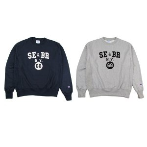 "【68&BROTHERS】HEAVY WEIGHT CREW SWEAT ""SE&BR_NY"""