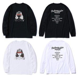 """【DUPPIES】L/S TEE SHIRTS """"SISTER DEL"""" / LAST BLACK XL"""