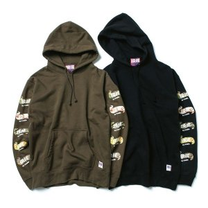 【IRIE by irielife】CAMO RIBBON LOGO HOODIE / LAST BLACK L