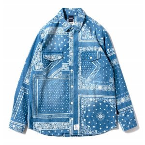 【APPLEBUM】INDIGO PAISLEY SHIRT<img class='new_mark_img2' src='//img.shop-pro.jp/img/new/icons5.gif' style='border:none;display:inline;margin:0px;padding:0px;width:auto;' />