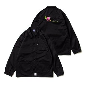 【APPLEBUM】FLOWER LOGO COVERALL JACKET / LAST BLACK L